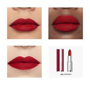 Vue 6 - Le Rouge Deep Velvet - Matité Poudrée Haute Pigmentation GIVENCHY - L'Interdit - P083397
