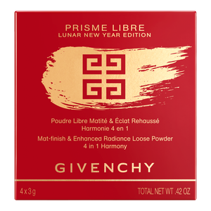 Vue 4 - PRISME LIBRE - Poudre libre matité & éclat rehaussé, harmonie 4 en 1 GIVENCHY - Mousseline Pastel - P190089