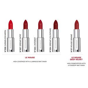 Vue 5 - Le Rouge Deep Velvet - Matité poudrée haute pigmentation GIVENCHY - Rouge Grainé - P184604