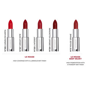 Vue 5 - Le Rouge - Matité lumineuse haute couvrance GIVENCHY - L'interdit - P184599